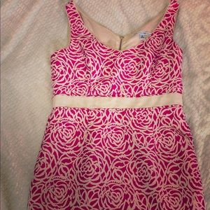 Maggy London pink and cream floral dress